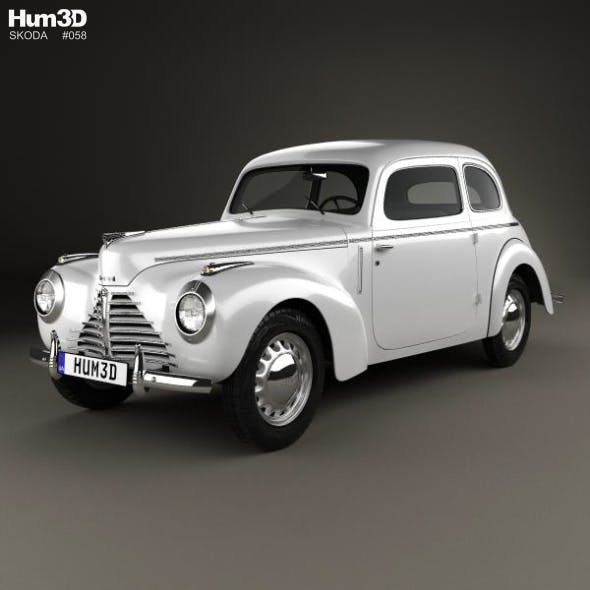 Skoda 1101 (Type 938) Tudor 1946 - 3DOcean Item for Sale
