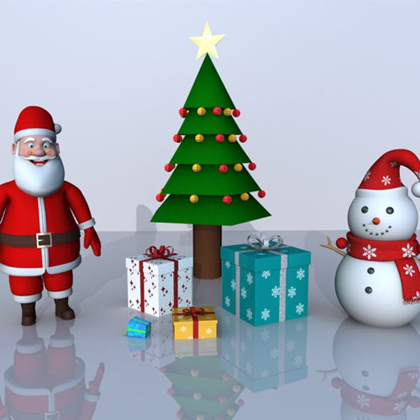 Christmas 3D Model Bundle Pack (4 in 1 pack)