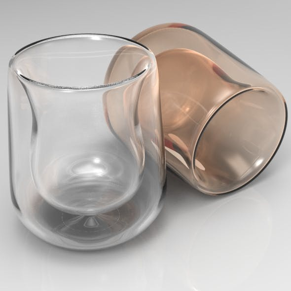 Double Walled Spirit Glass - 3DOcean Item for Sale
