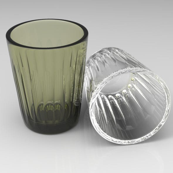 Oval Faceted Standard Glass - 3DOcean Item for Sale