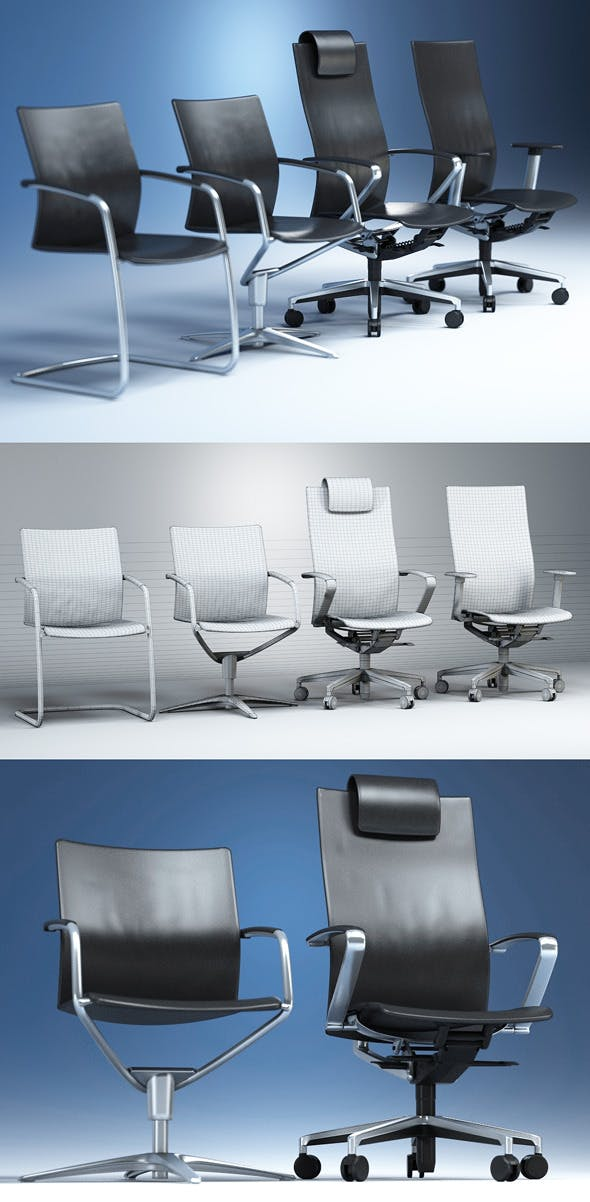 Quality 3dmodel of modern chairs Ciello. Kloeber - 3DOcean Item for Sale