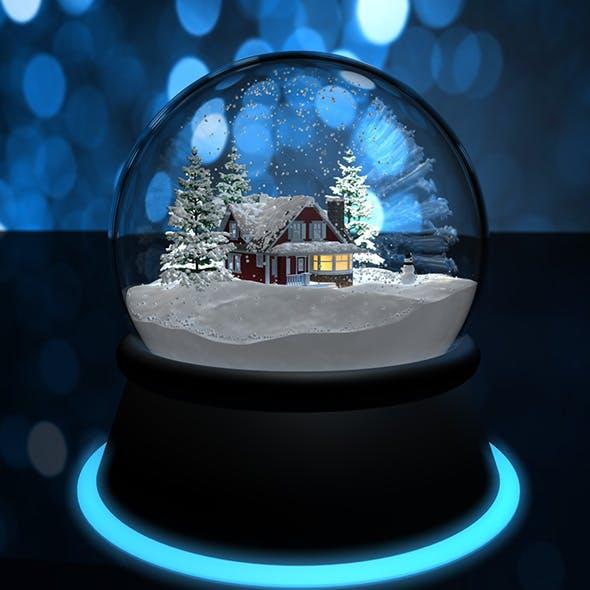 Christmas Snow Globe - 3DOcean Item for Sale