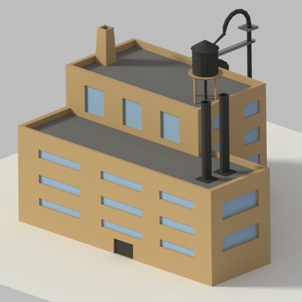 Low Poly Cartoon Refinery