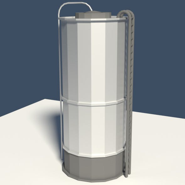 Low Poly Cartoon Silo - 3DOcean Item for Sale