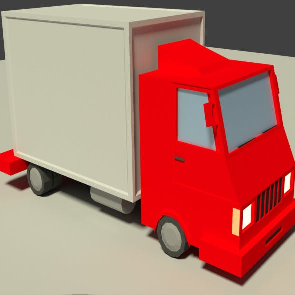 Low Poly Truck Model - 3DOcean Item for Sale