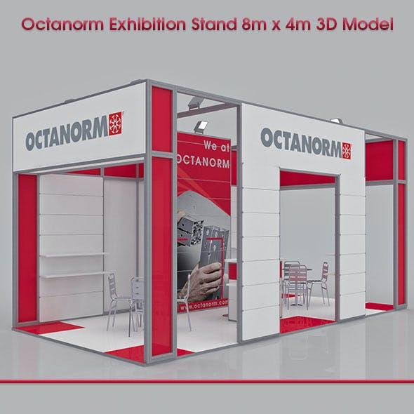 Octanorm Exhibition Stand 8m x 4m 3D Model