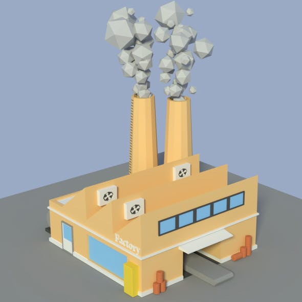 Low Poly Factory 4 - 3DOcean Item for Sale