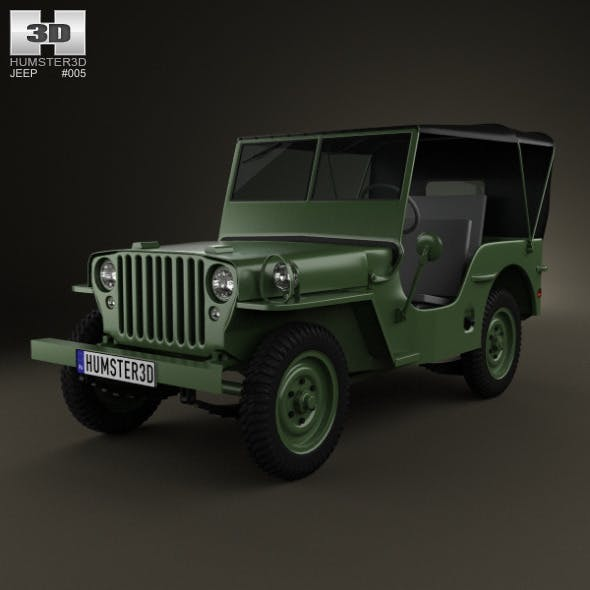 Jeep Willys MB 1941  - 3DOcean Item for Sale