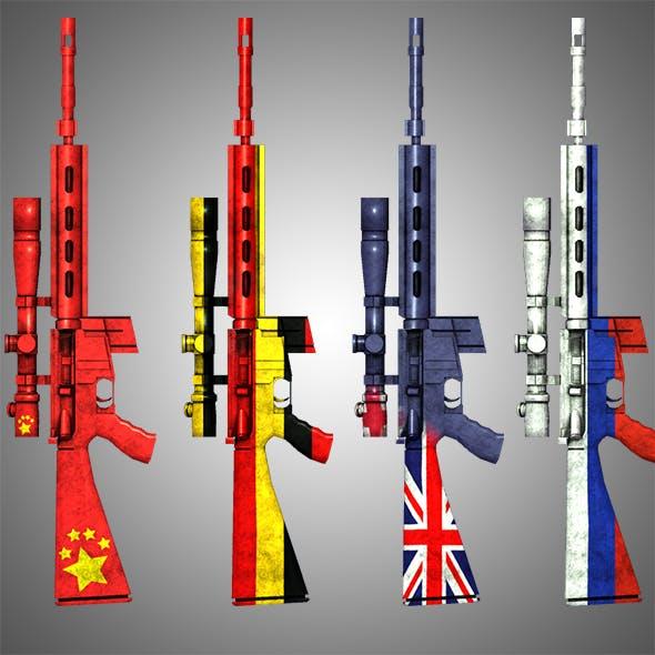 Sniper Weapon MK12SPR +50 Skins - 3DOcean Item for Sale