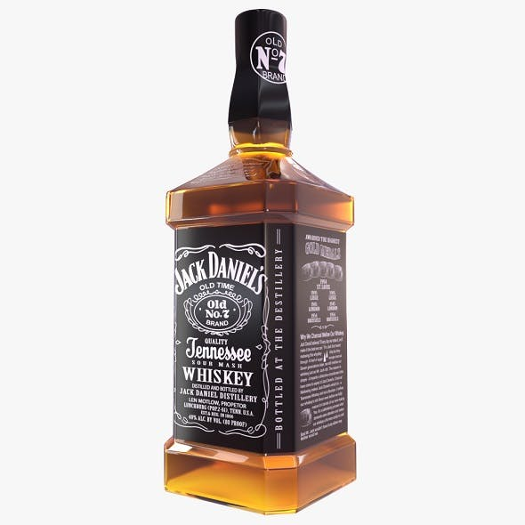 Jack Daniels Whisky Bottle - 3DOcean Item for Sale