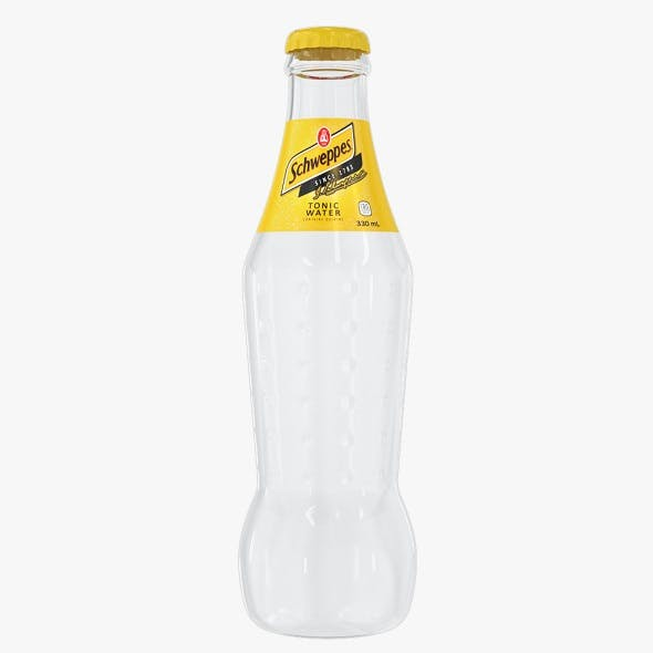 Schweppes Tonic Drink Glass Bottle