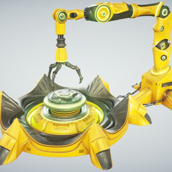 Sci fi Industrial Robot