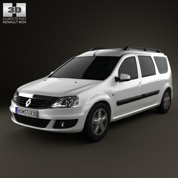 Renault Logan MCV 2011 - 3DOcean Item for Sale