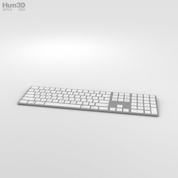 Apple Magic Keyboard with Numeric Keypad - 3DOcean Item for Sale