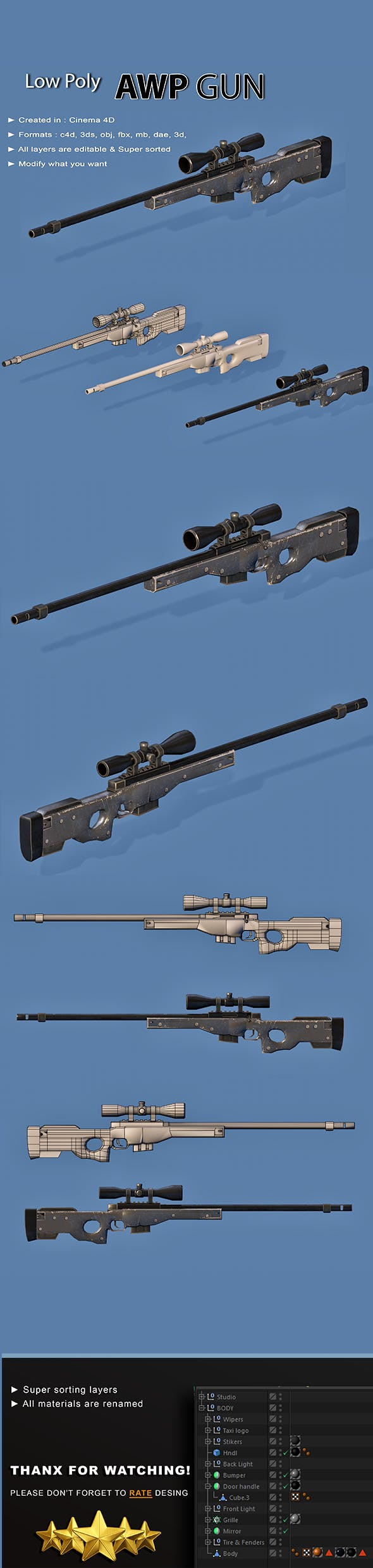 AWP Gun - 3DOcean Item for Sale