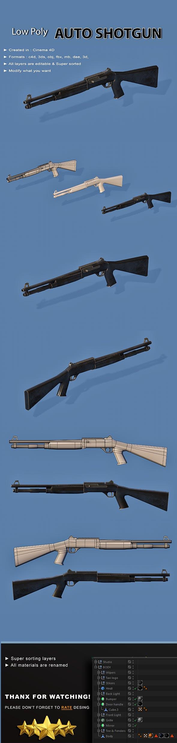 Auto Shotgun - 3DOcean Item for Sale