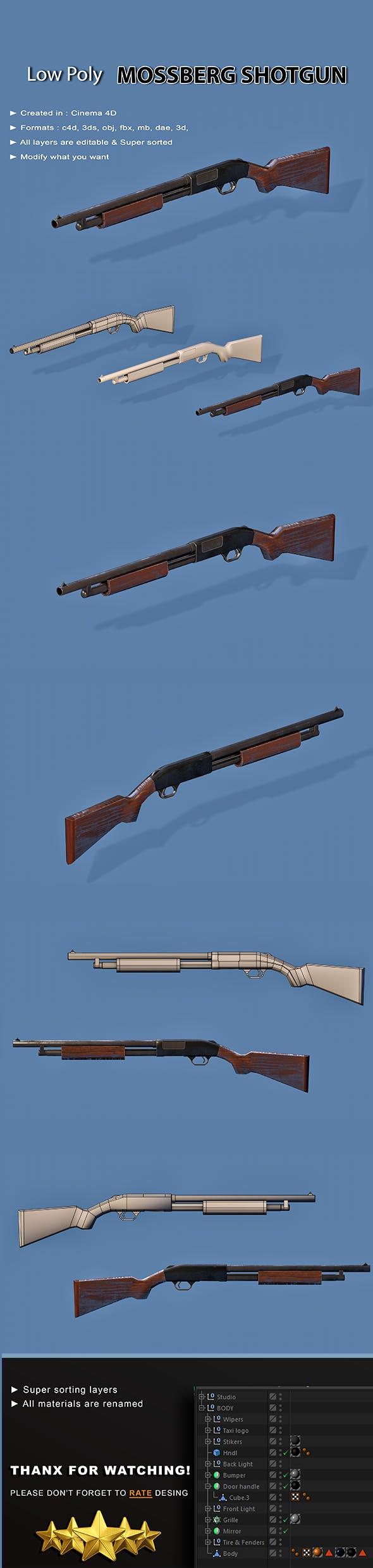 Mossberg Shotgun - 3DOcean Item for Sale