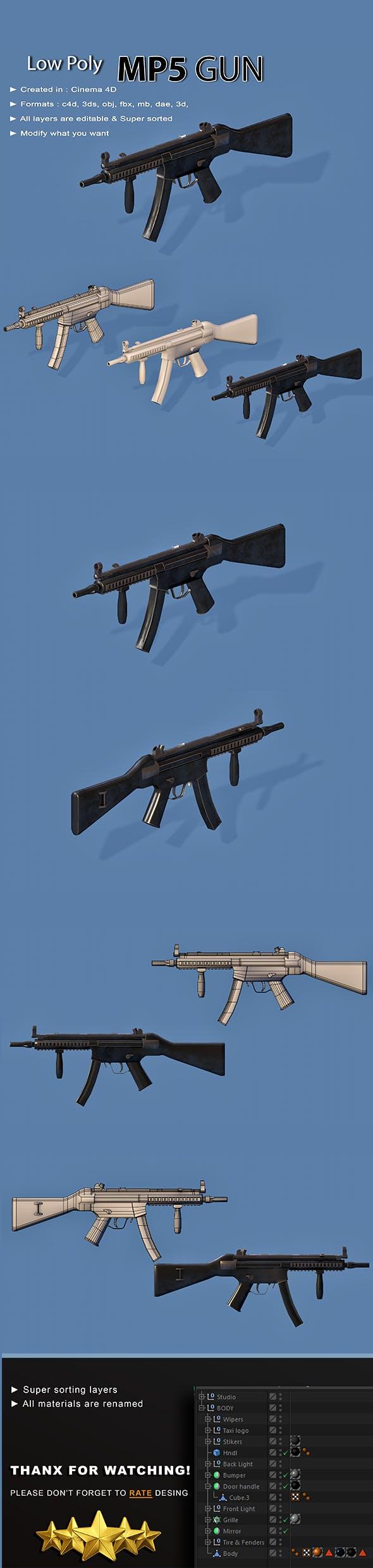 MP Gun - 3DOcean Item for Sale