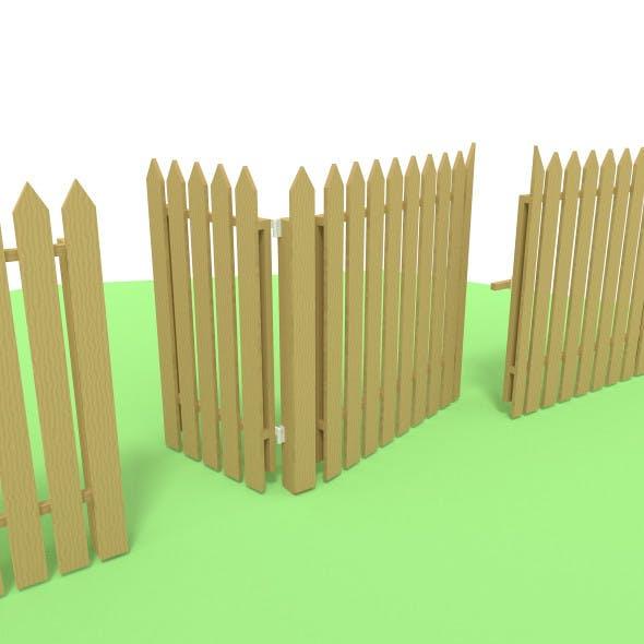 Low poly fence - 3DOcean Item for Sale