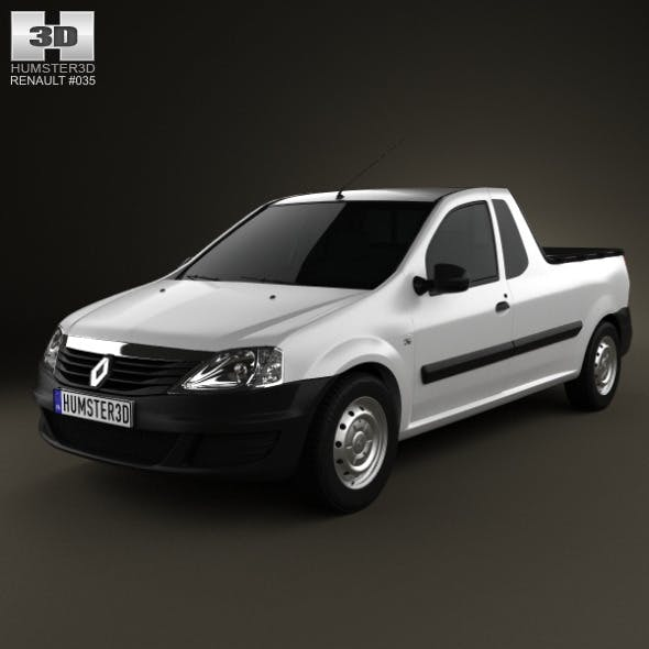 Renault Logan Pickup 2011 - 3DOcean Item for Sale
