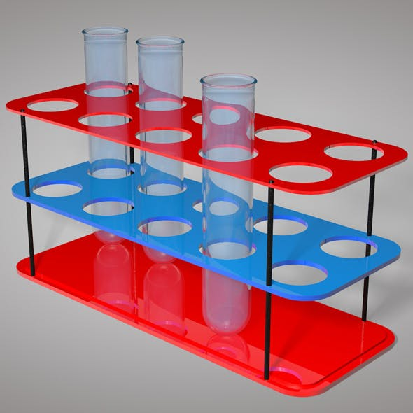Test Tube With Stand - 3DOcean Item for Sale