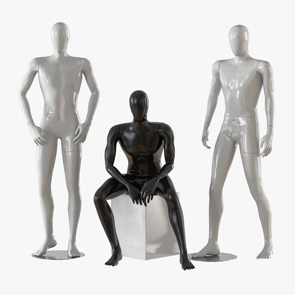 Three male mannequins 20 - 3DOcean Item for Sale