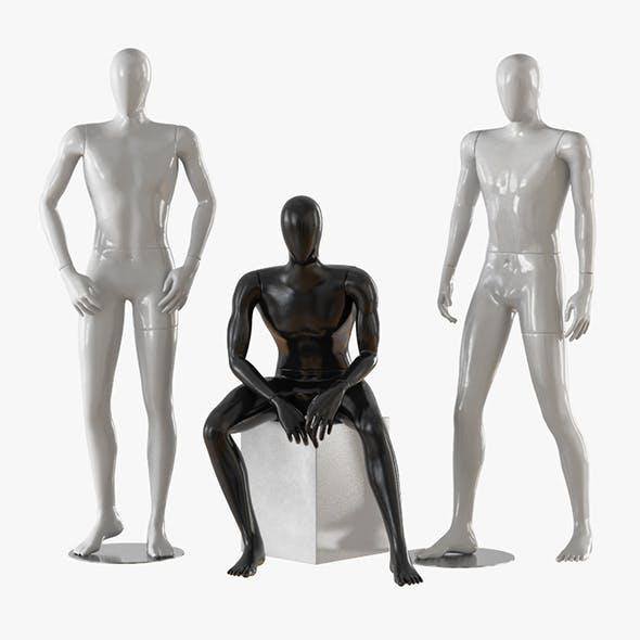 Three male mannequins 20