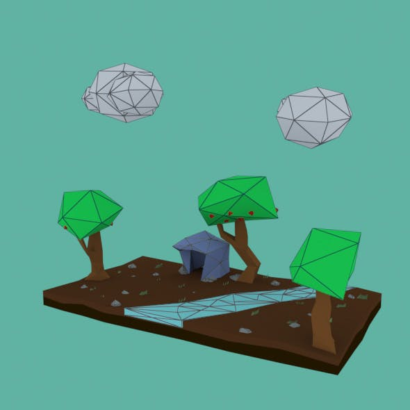 Mini Low Poly - 3DOcean Item for Sale