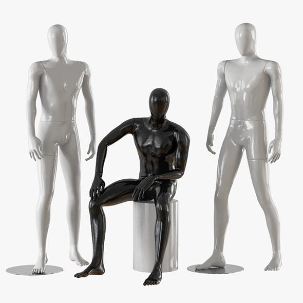 Three male mannequins 21 - 3DOcean Item for Sale