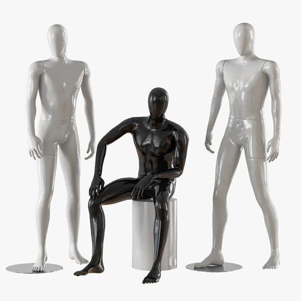 Three male mannequins 21