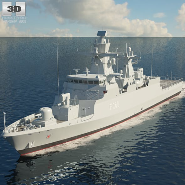Braunschweig-class corvette - 3DOcean Item for Sale