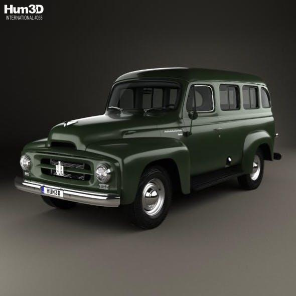 International Harvester R-110 Travelall 1953 - 3DOcean Item for Sale