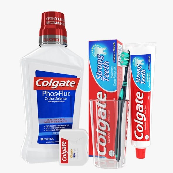 Oral Hygiene Collection - 3DOcean Item for Sale