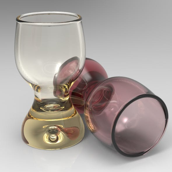 Egg Cup Shaped Shot Glass - 3DOcean Item for Sale
