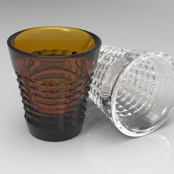 Crystal Cut Shot Glass - 3DOcean Item for Sale