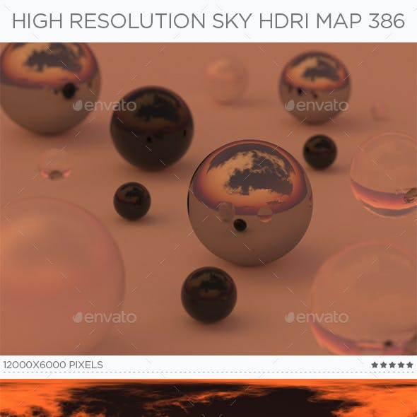High Resolution Sky HDRi Map 386