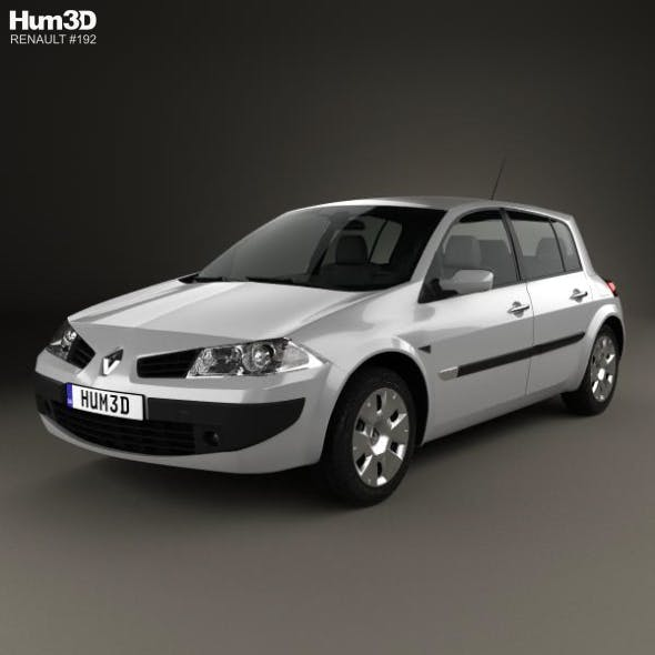 Renault Megane 5-door hatchback 2006 - 3DOcean Item for Sale