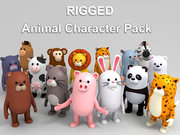 Rigged Animal Character Pack 1 - 3DOcean Item for Sale