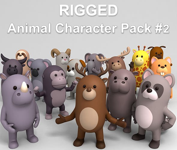 Rigged Animal Character Pack 2 - 3DOcean Item for Sale