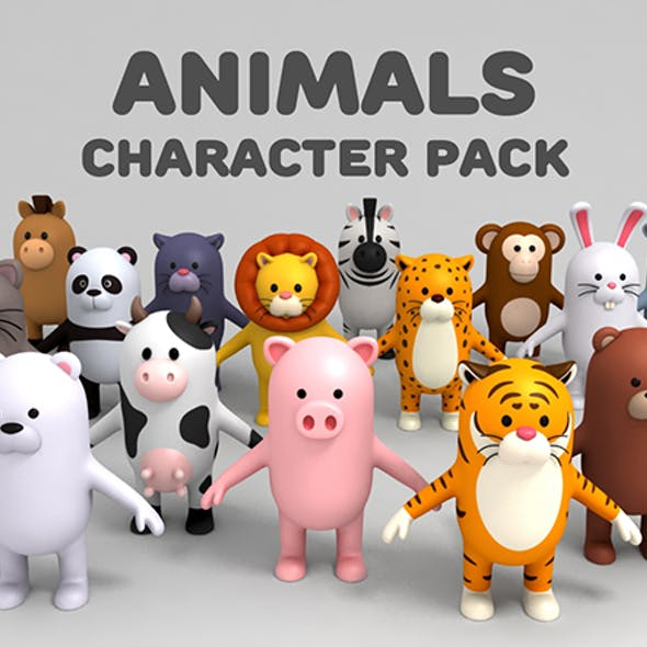 Cartoon Animals Model Pack 1