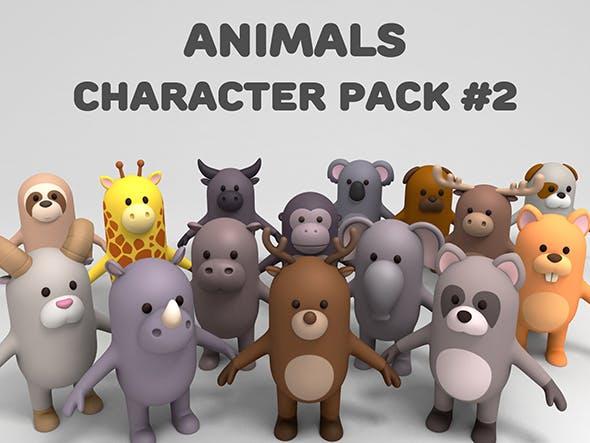 Cartoon Animals Model Pack 2 - 3DOcean Item for Sale