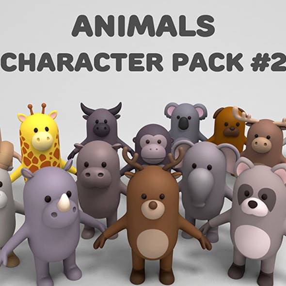 Cartoon Animals Model Pack 2