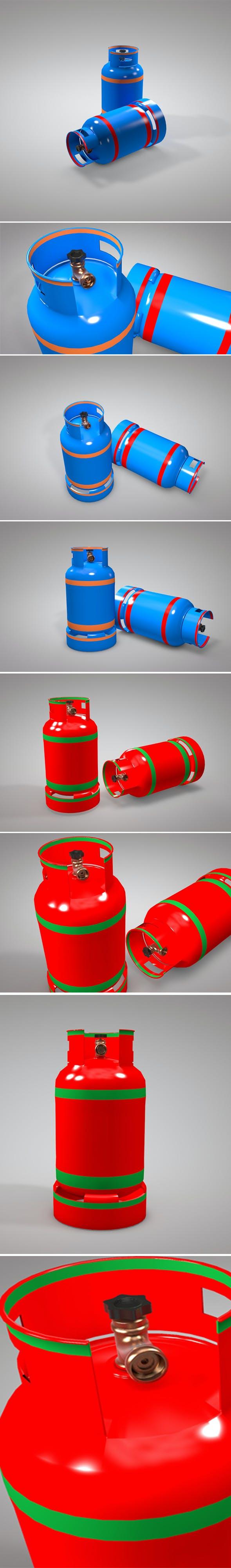 Gas Cylinder 3d Model - 3DOcean Item for Sale
