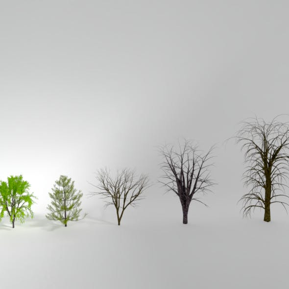 Animated Rigged Trees Pack