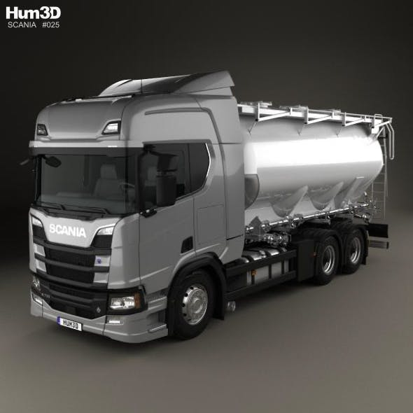 Scania R 730 Tanker Truck 2017 - 3DOcean Item for Sale