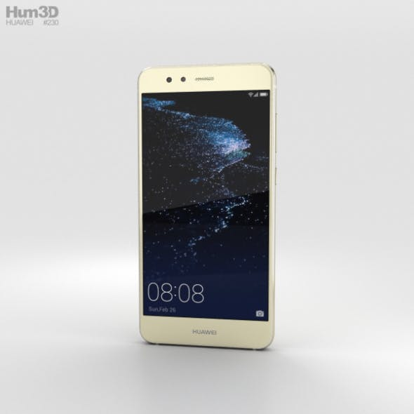 Huawei P10 Lite Platinum Gold - 3DOcean Item for Sale