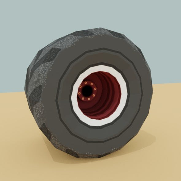 Low Poly offroad wheel - 3DOcean Item for Sale