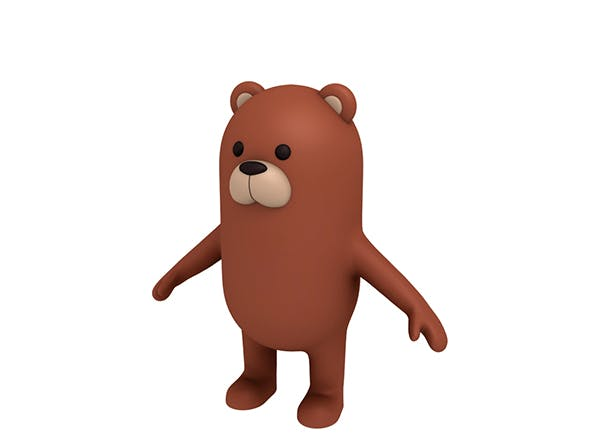 Brown Bear Character - 3DOcean Item for Sale
