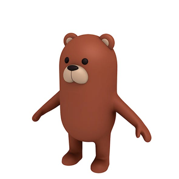 Brown Bear Character