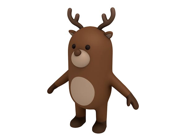 Reindeer Character - 3DOcean Item for Sale